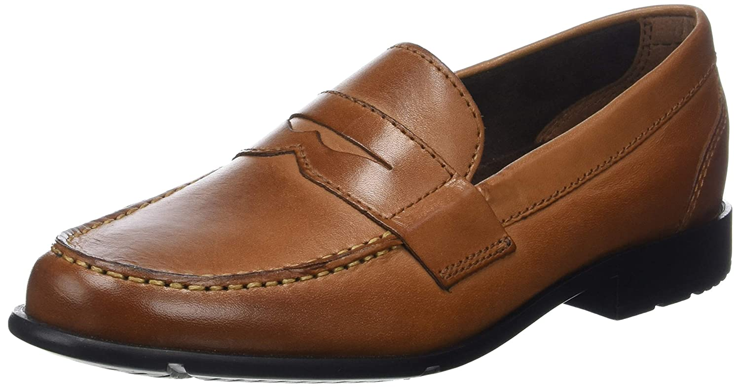 1940s UK and Europe Men's Clothing – WW2, Swing Dance, Goodwin Rockport Menss Classic Loafer Penny Cognac £83.06 AT vintagedancer.com