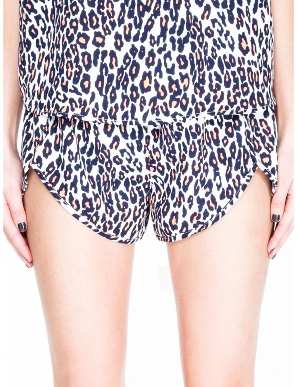The Fifth Stand Still Mini Jogger Shorts, Leopard, S