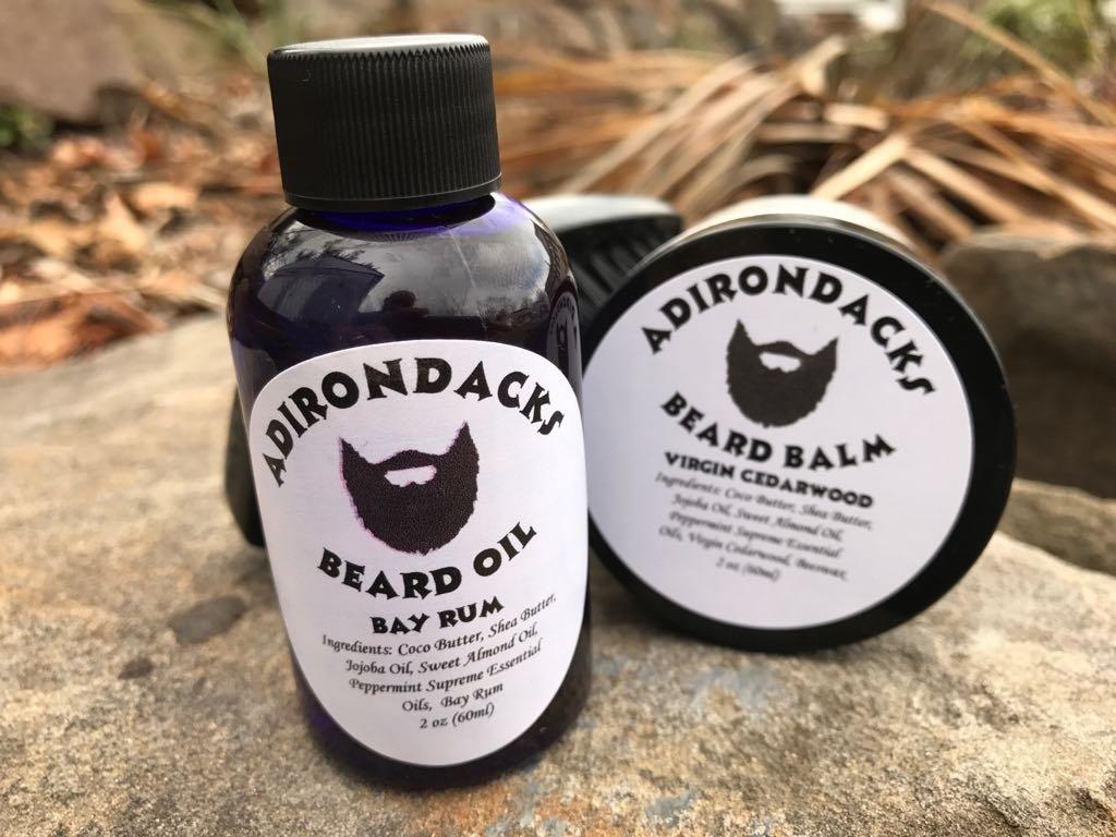 Men Beard Oil Kit 2.oz + Beard Balm 2oz + Brush