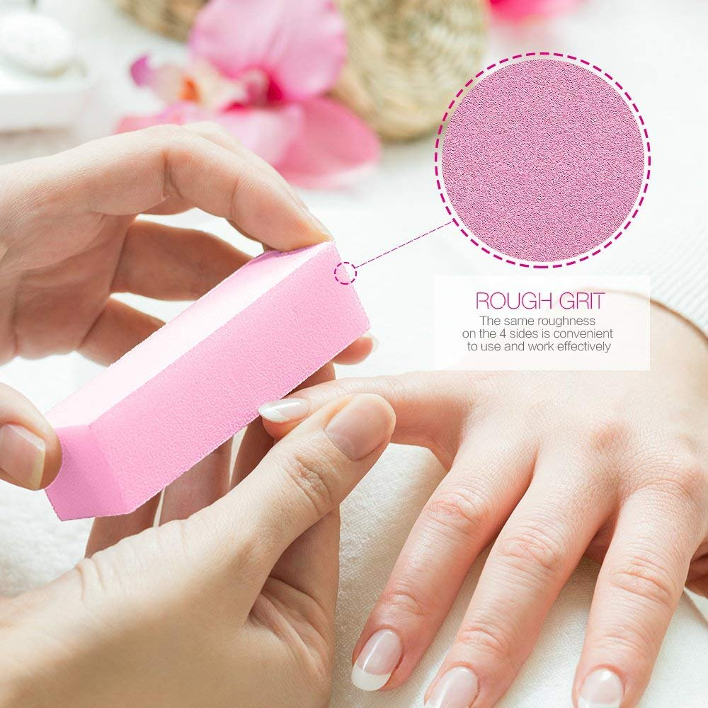 TSMADDTS limas de uñas y cuidado artístico bloque de uñas profesional Kit de herramientas de manicura rectangular limas de uñas cepillo herramientas de arte ...