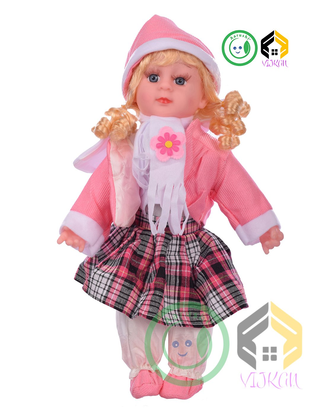 4d4cc38fbd6566 Buy Aarushi Girl Pink Baby Doll, Multi Color and Radom Dress Online at Low  Prices in India - Amazon.in