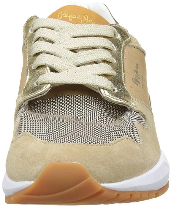 Pepe Jeans London Foster Itaca, Zapatillas para Mujer, Beige (Camel), 37 EU
