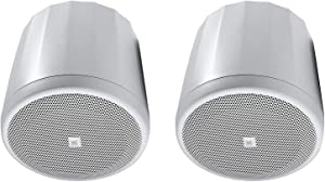 JBL Professional C62P-WH Ultra-Compact Mid-High Satellite Hanging Pendant Speaker, White, Sold as Pair
