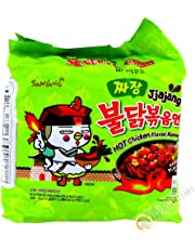 SAMYANG JJAJANG BULDAK Spicy Black Bean Roasted Chicken Ramen (Pack of 5)