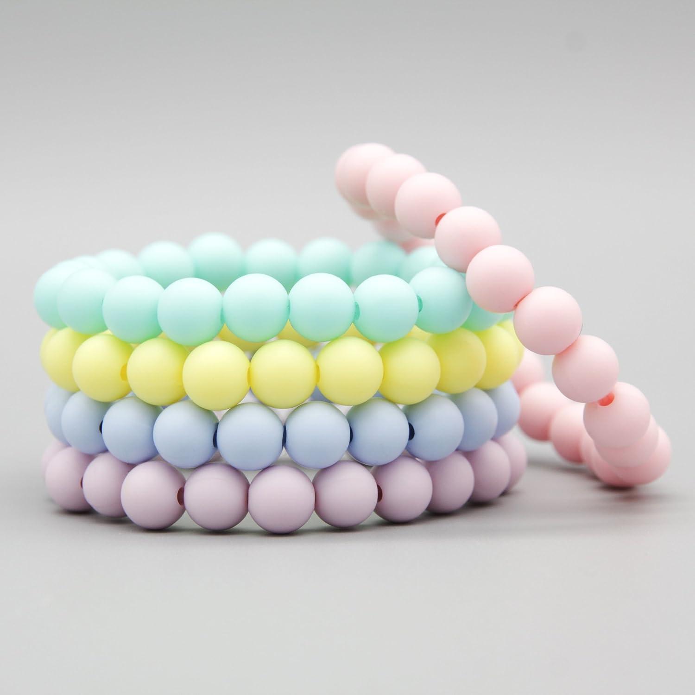 Flex-Armband / Silikonarmband Plain Pastelltöne Silikonschmuck