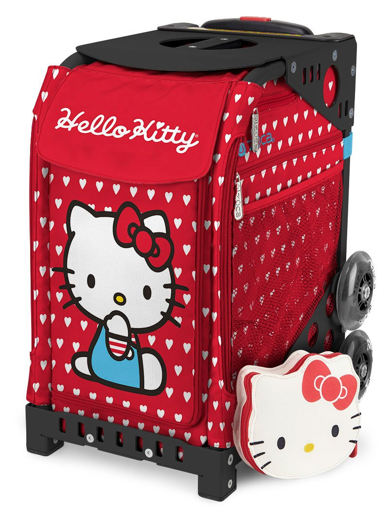 ZÜCA Sport Hello Kitty Labor of Love Rolling Bag Black Frame by ZUCA (Image #1)