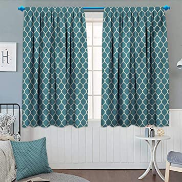 Amazoncom Anhounine Blue And Whiteblackout Curtainmodern And