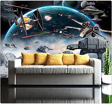 3d Photo Wallpaper Mural Star Wars Large Murals Wall Painting Eco Friendly Bedroom Wallpaper 300cmx210cm Amazon Co Uk Kitchen Home