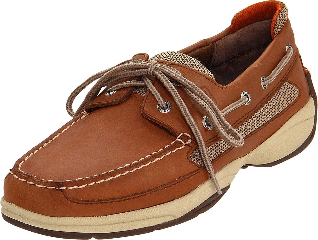 2-Eye Boat Shoe, Dark Tan/Orange