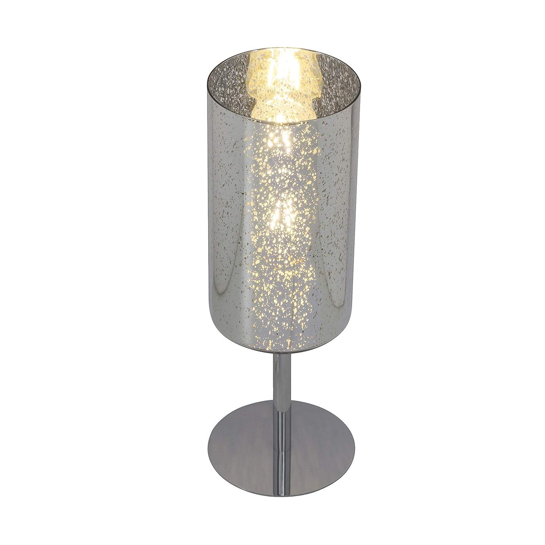 Brilliant 69747 58 Tischleuchte, Glas Metall, chrom silber Sterneneffekt