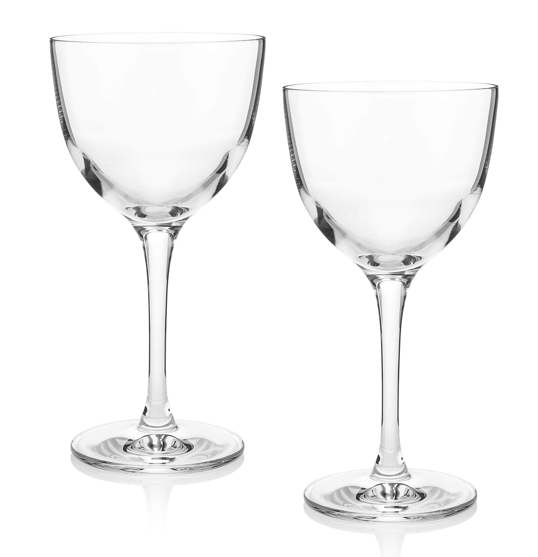 The Original Nick & Nora Crystal Martini Glasses (Gift Box of 2) by HISTORY COMPANY