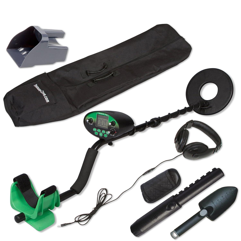Treasure Cove Kit de detector de metales digital profesional con bobina de b/úsqueda resistente a la intemperie de 10 pulgadas
