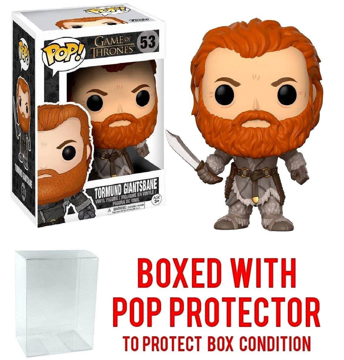 Funko Pop! Game of Thrones: GOT - Tormund Giantsbane #53 Vinyl Figure (Bundled with Pop BOX PROTECTOR CASE)