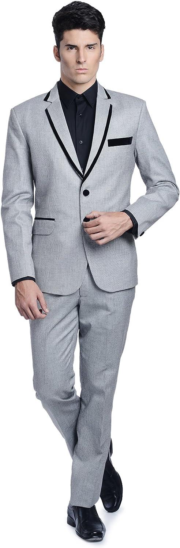 LUXURAZI Mens The Linen Blended Fashion Suit