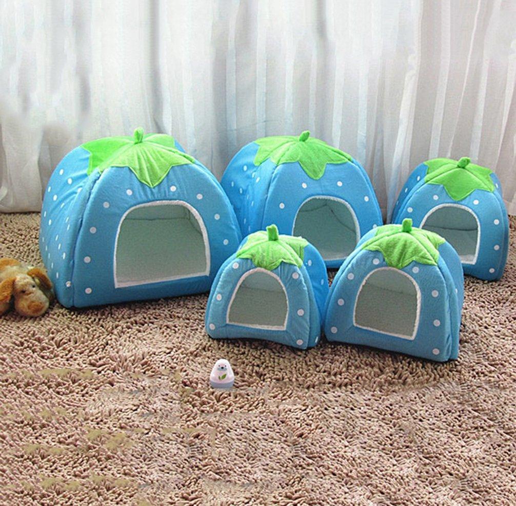JEELINBORE Weiche Haustier Erdbeeren Schlafsack Hundeh/ütte Katzenh/öhle Hund Katze Haus Kuschelh/öhle K/örbchen