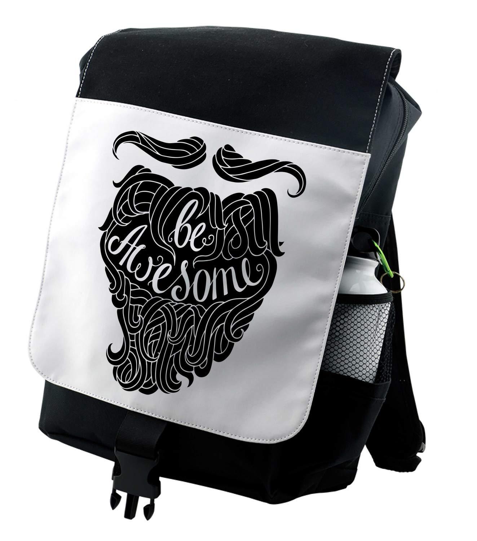 Amazon com   Lunarable Be Awesome Backpack, Hipster Beard