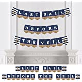 Last Sail Before The Veil - Nautical Bridal Shower & Bachelorette Party Bunting Banner - Bridal & Bachelorette Party Decorations