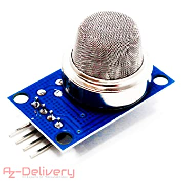 AZDelivery MQ135 Air Quality Gas Smoke Detection Sensor Module for