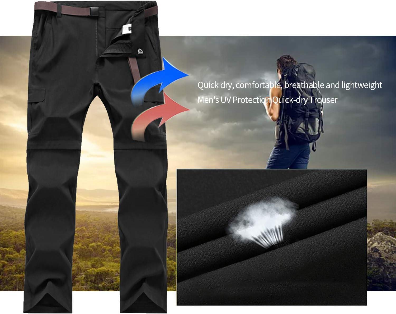 SUKUTU Pantalon Randonnee Homme Ext/érieur /à s/échage Rapide Respirant Imperm/éable Pantalon de Chasse Escalade Cyclisme