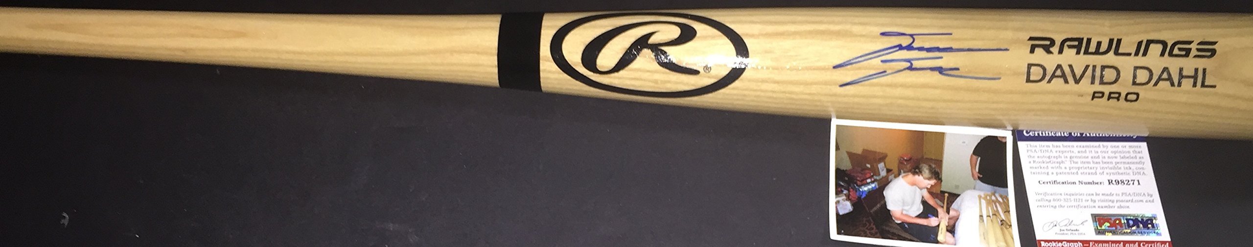 David Dahl Colorado Rockies PSA DNA ROOKIE COA Autographed Signed Full Size Blonde Baseball Bat
