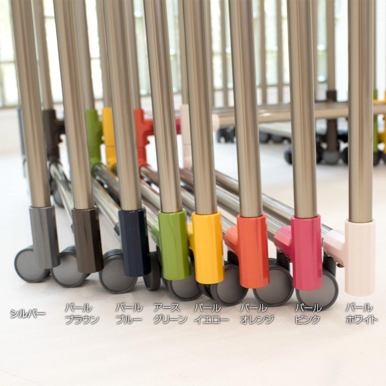 室内用 KILALA-lightシリズ 中型 ワイド 1ブロックの幅80cm 本体カラー:シャンパンゴールド(キャップカラー:パールブラウン) B072NZS63G パールブラウン 1面の幅:80.5cm