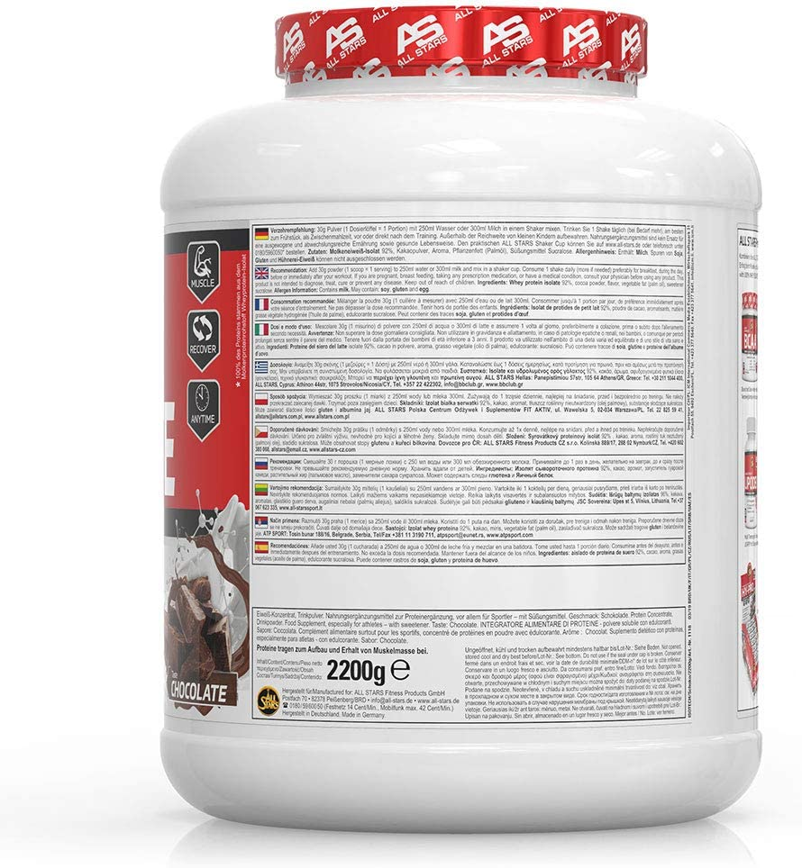 All Stars 100% Isolate (2200g) 2200 g 1 Unidad