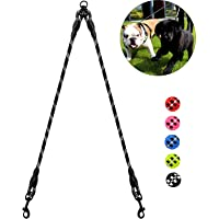 Taglory Double Dog Leash Coupler, Reflective Dual Leash 360°Tangle Free for Medium Small Puppy Dogs
