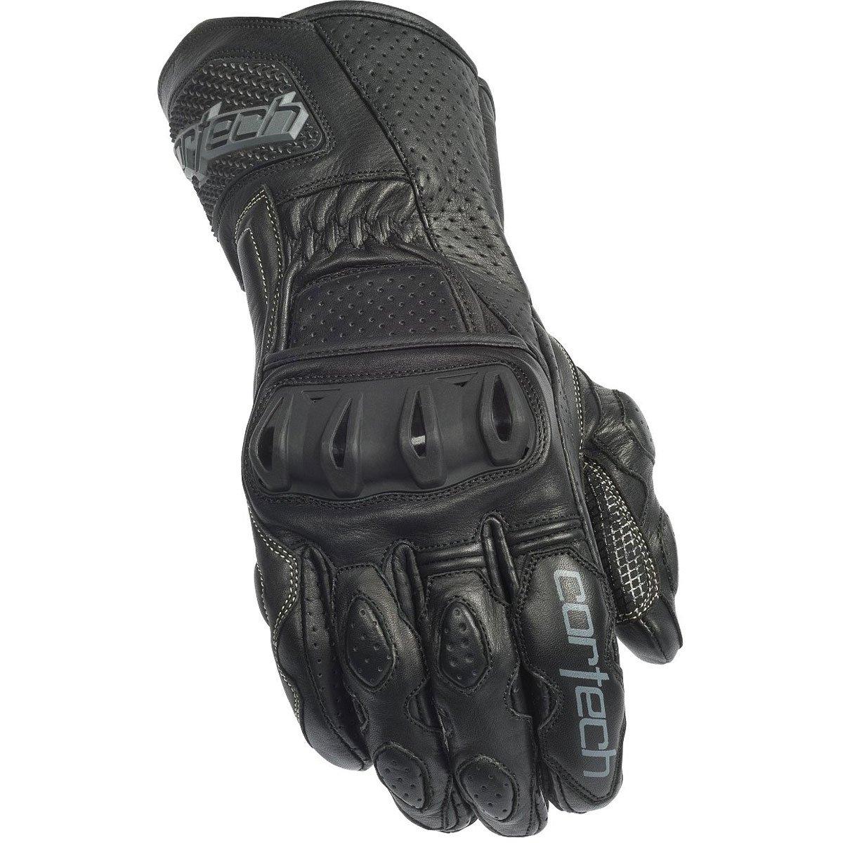 Cortech Latigo 2 RR Mens Leather Sports Bike Motorcycle Gloves - Black/Black / 2X-Large