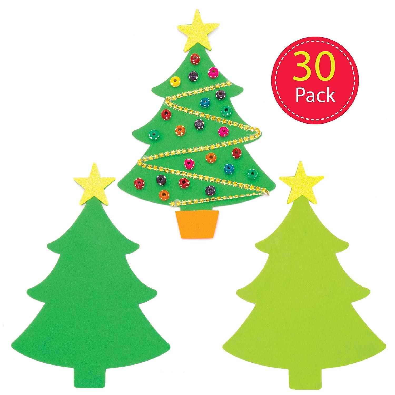 Baker Ross Plantillas de espuma Árbol de Navidad (Pack de 30 ...
