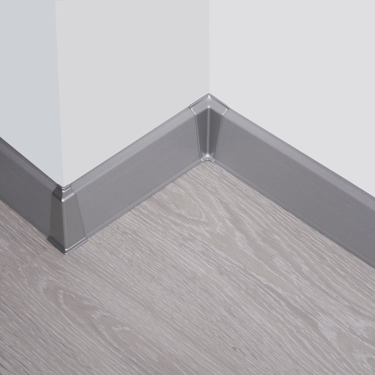 HOLZBRINK Innenecke passend zum Dekor Ihrer Sockelleiste Fussleiste VEO 002 ALUMINIUM