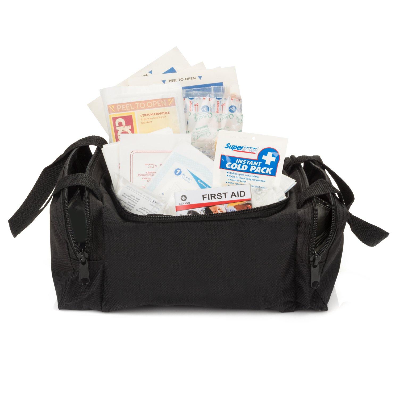 Eco Medix First Aid Kit Emergency Response Bag Fully Stocked (Black) by eco medix (Image #2)