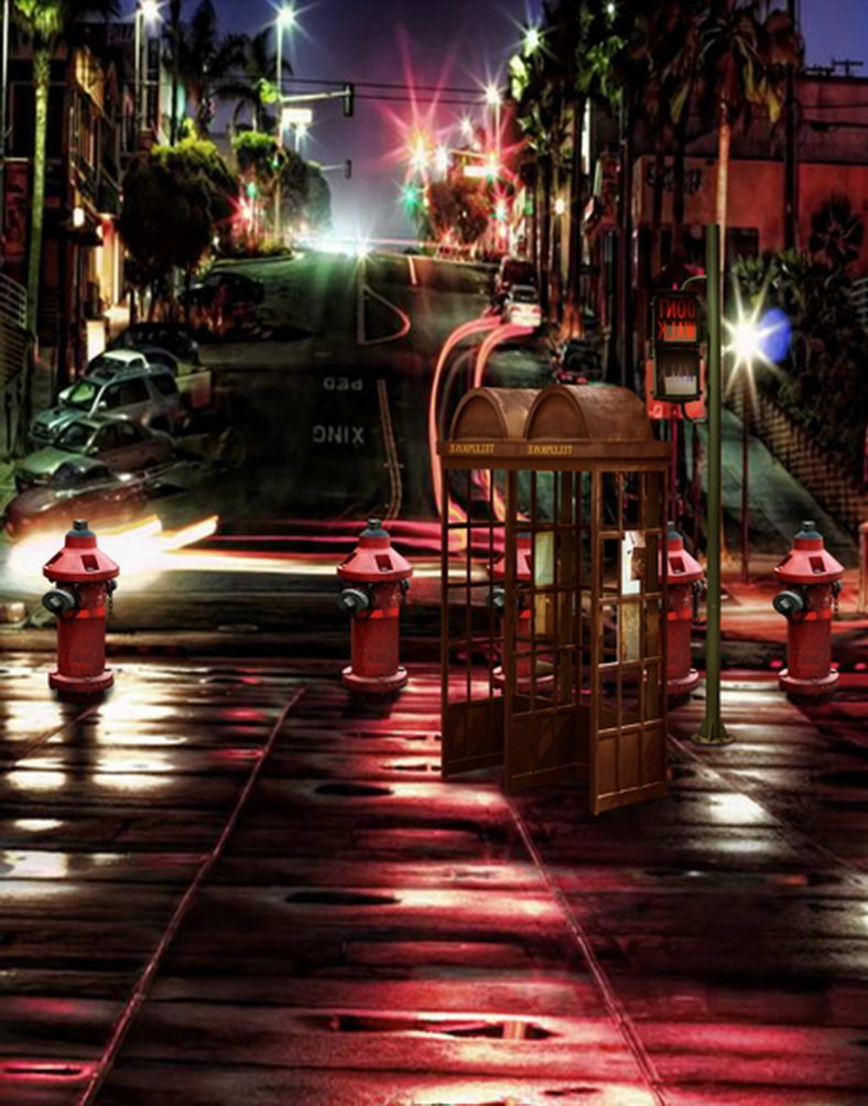 Street Viewライト写真Backdrops写真小道具Studio背景5 x 7ft   B01GYVCDBW