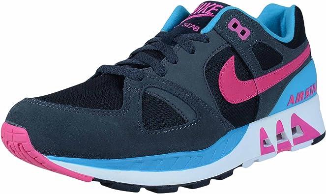 Costa Plisado infierno  Amazon.com | Nike Men's Air Stab Black/Blue/Pink 312451-004 (Size: 10) |  Shoes