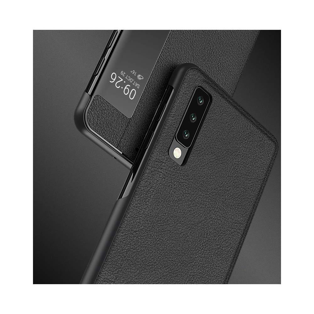 For Samsung S10 Black, for Samsung Galaxy S10 Plus 2019 Plus 2019 Case SevenPanda Genuine Leather Flip Cover Window View Automatic Sleep Wakeup Smart Flip Stand Case Cover for Galaxy S10 Plus 2019