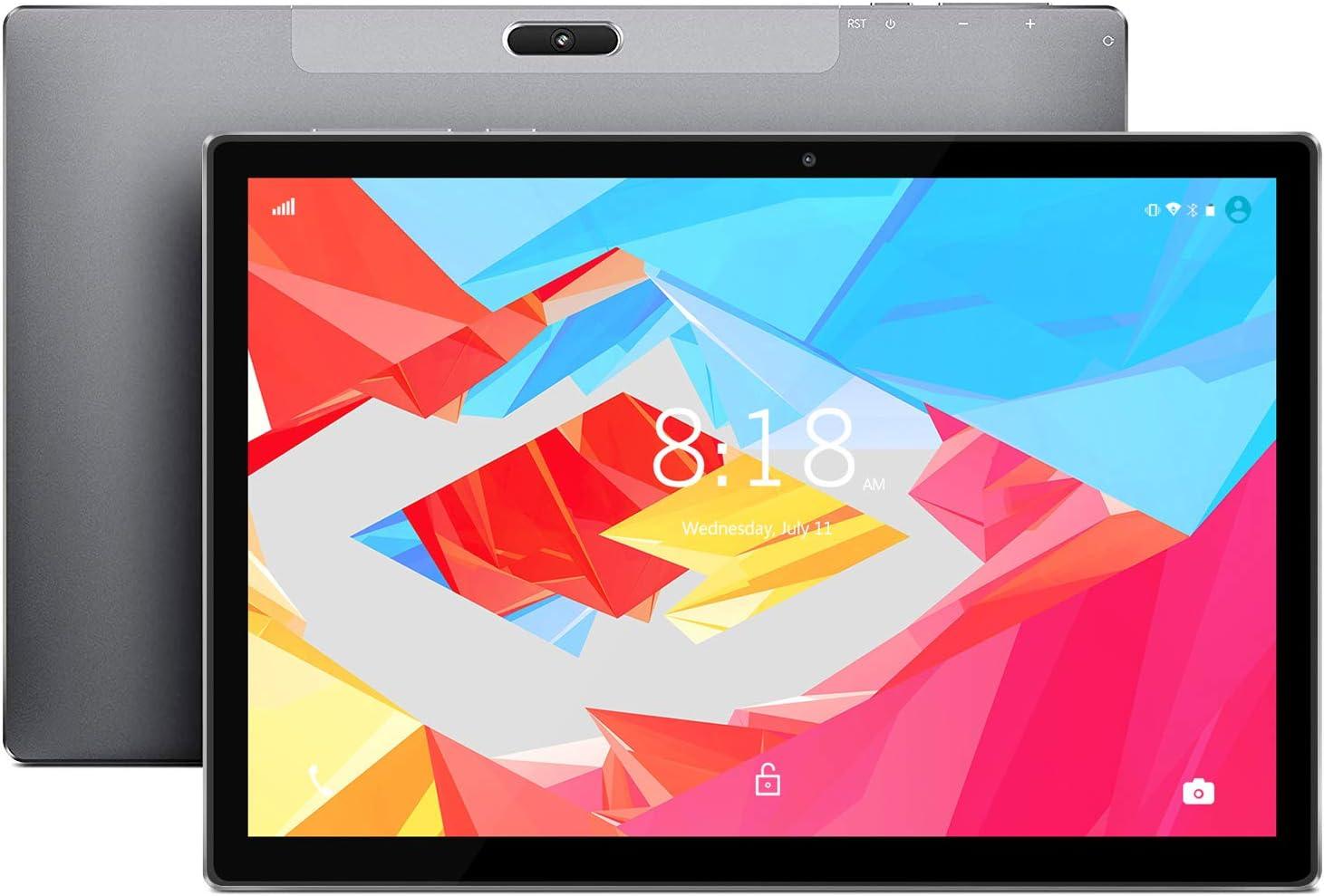 LNMBBS X30 Tablet 10.1 Pulgadas, 6GB de RAM y 128GB Memoria Tableta 10 Núcleos Procesador Android 9.0 Tablet 8000mAh Batería y 2560*1600 FHD IPS, Doble 4G y Doble Banda WiFi, Tipo C (Negro)