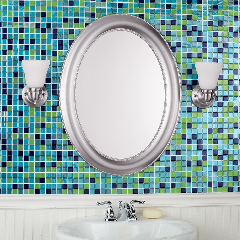 Amazon.com: Collections Etc Peel and Stick Backsplash Tiles, Mosaic ...