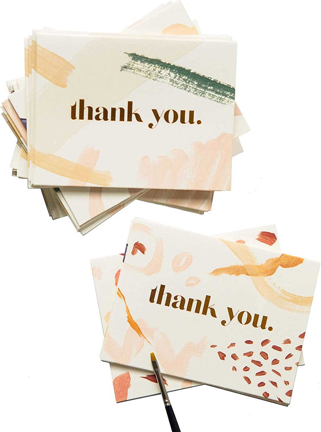 Powder Blue Lights Watercolour Personalized Wedding Thank You Cards