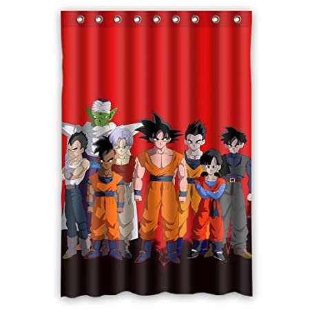 Custom Hot Selling Anime Dragon Ball Z Characters Waterproof Bathroom Shower Curtain Polyester 48quot