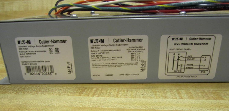 Cutler Hammer Cvl050ch240sbdrs Cvl50 Surge Suppressor Clipper Vl Panel Wiring Diagram Industrial Scientific
