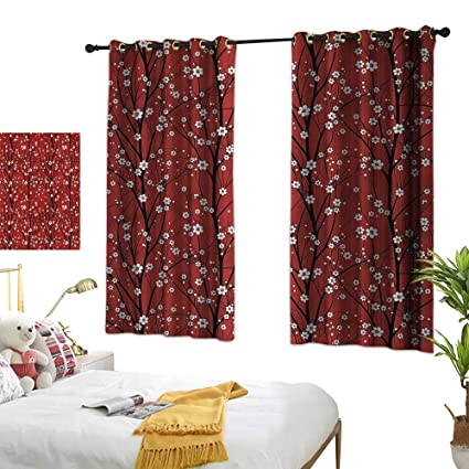 Amazon.com: G Idle Sky Bedroom Blackout Curtains Floral Children\'s ...