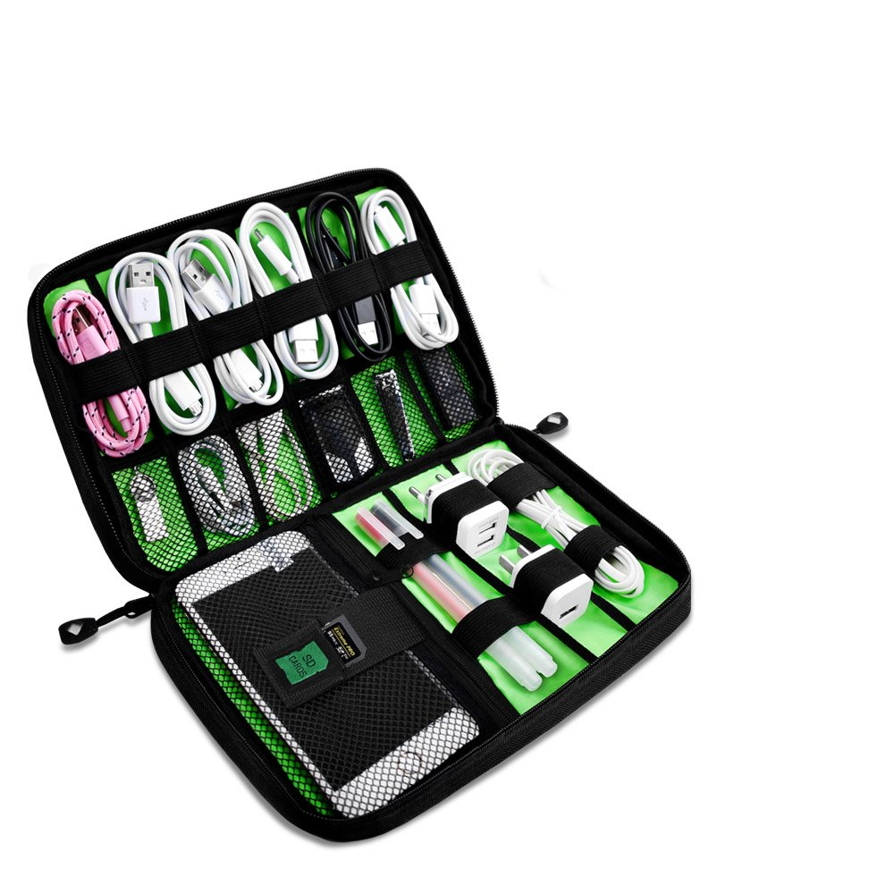Defway Electronic Organizer, Travel Gadget Bag For Document Organizer & Passport Holder