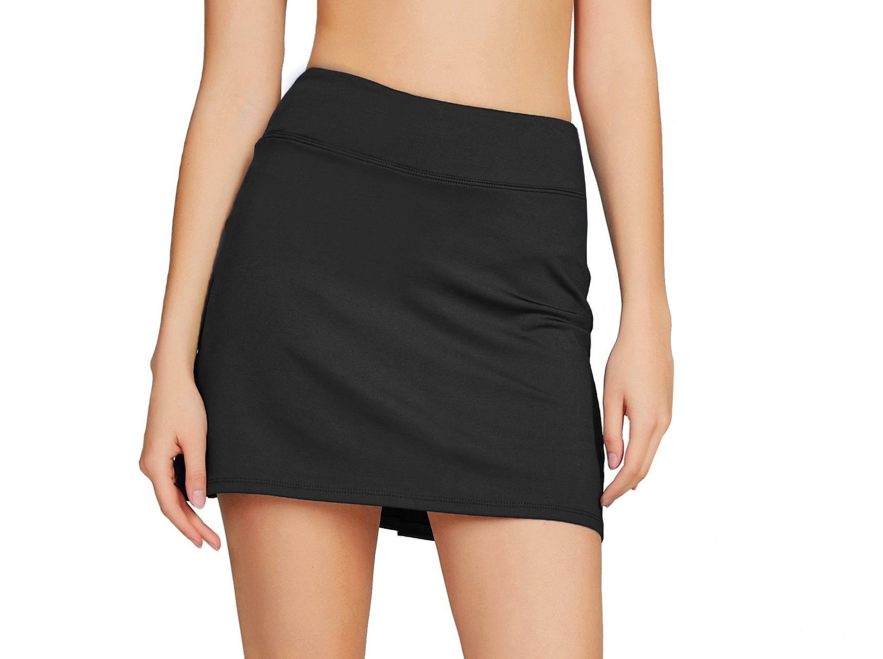 Cityoung Women's Casual Pleated Tennis Golf Skirt with Underneath Shorts Running Skorts bk xs by Cityoung