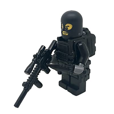 Modern Brick Warfare Special Forces Soldier Stakeout Custom Minifigure: Toys & Games