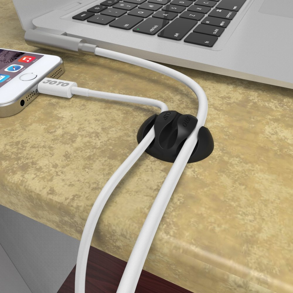 office cable tidy. JOTO Cable Clips Cord Management Organizer, Wall Desk Desktop Wire Clip, Electronics Computer Mouse Charging USB Holder, Black: Amazon.ca: Office Tidy K