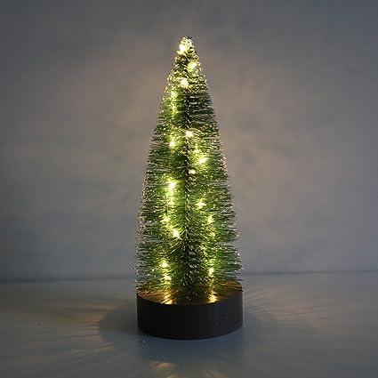 PIONEER-EFFORT Árbol de Navidad del cepillo de botella miniatura de 8.5 pulgadas con las