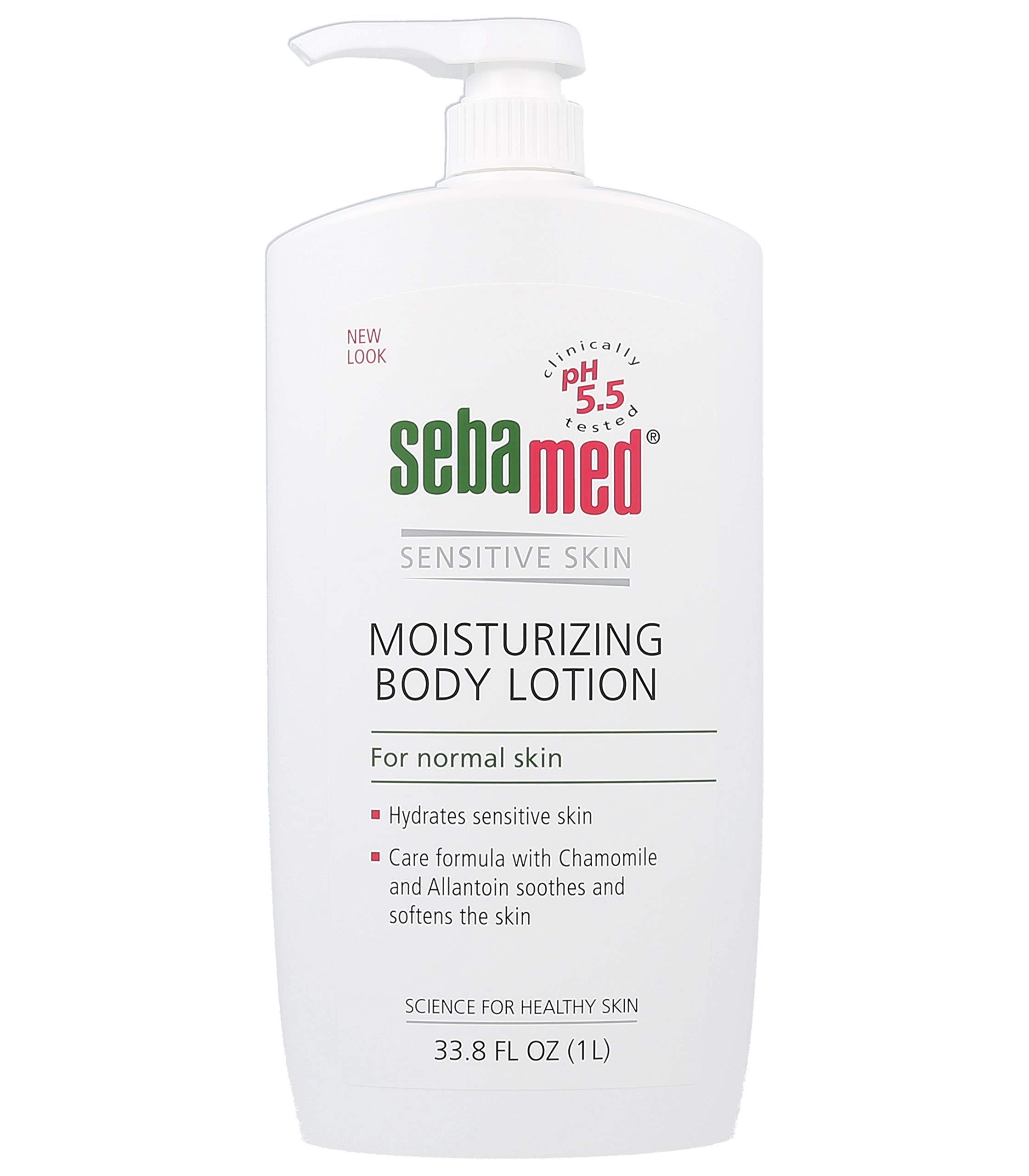 Sebamed Moisturizing Body lotion pH 5.5 for Sensitive Skin Hypoallergenic Dermatologist Recommended Hydrating Moisturizer 33.8 Fluid Ounces (1 Liter) by SEBAMED