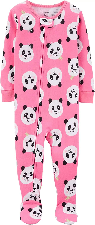 24 Months, Pink//Panda Carters Baby Girls 1-Piece Snug Fit Cotton Pajamas