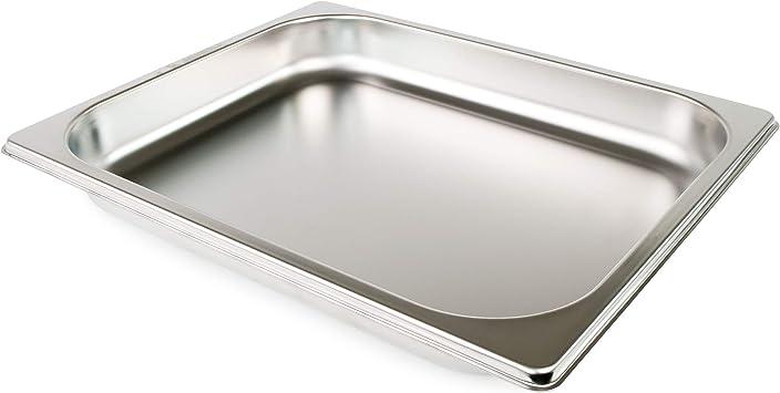 GN 1//2 Gastronormbehälter GN-Behälter Edelstahl 2,5 Liter Tiefe 40mm Gastronorm
