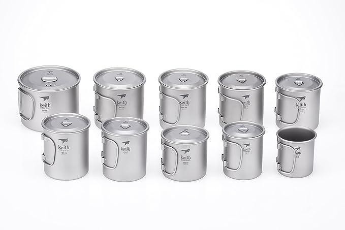 Keith Titanium Ti3207 Single-Wall Mug Shipped from USA 20.3 fl oz