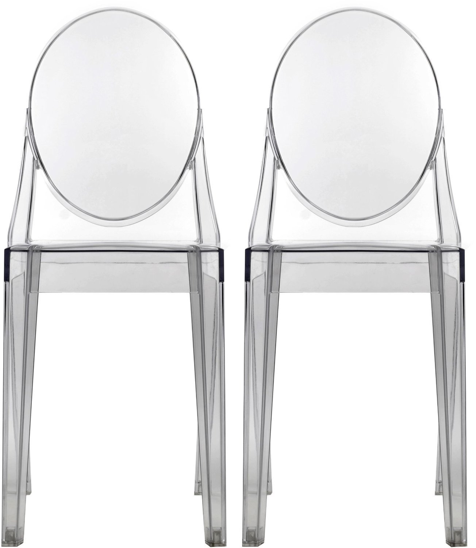 Nicer Furniture Set of 2 Philippe Starck Louis XVI Ghost Side